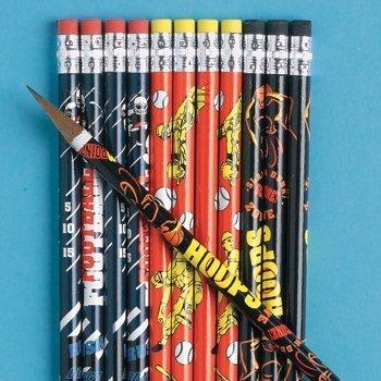 Football, Basketball & Baseball Pencils (2 DOZEN) - BULK by Unknown