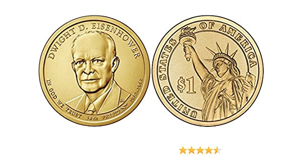 2015 US Eisenhower Presidential Dollars P and D Mints Dwight D
