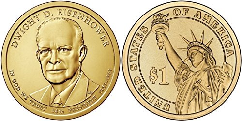 2015 D Dwight Eisenhower - Bankroll of 25 Presidential Dollar Uncirculated