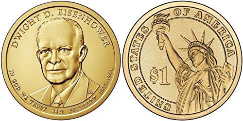 - 2015 D Dwight Eisenhower - Bankroll of 25 Presidential Dollar Uncirculated