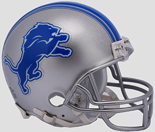 Replica Logo New Helmet Mini (NFL Detroit Lions New 2017 Logo Replica Mini Football Helmet)