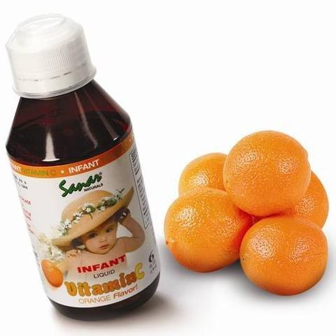 Sanar Naturals vitamine C infantile 6 Oz Liquid - Saveur d'Orange