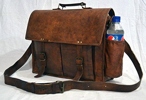 Echt Vintage Leder Handarbeit Messenger Umhängetasche Cross-Body-braun aktentasche