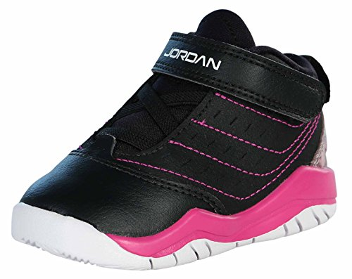 Price comparison product image Nike Jordan Toddlers Jordan Velocity Gt Basketball Shoe (6 M US Toddler, Black/White/Fuschia Flash)
