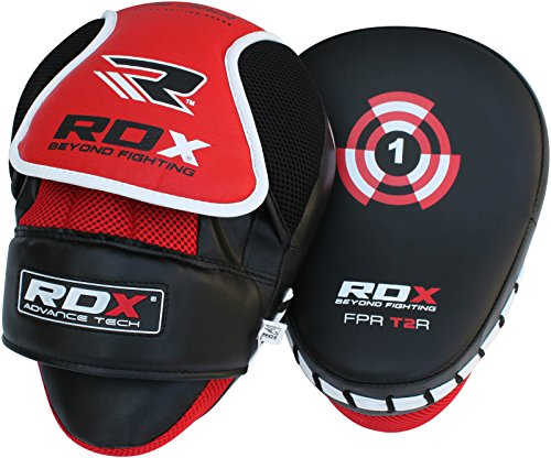RDX Boxing Hook & Jab Pads MMA Thai Strike Kick Shield Training Punching Focus Mitts Target