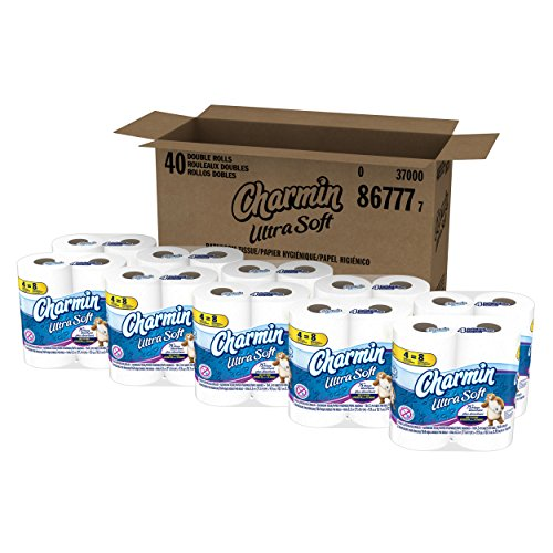 Charmin Ultra Soft Toilet Paper 40 Double Roll (10 Packs of 4 Double Rolls) ()