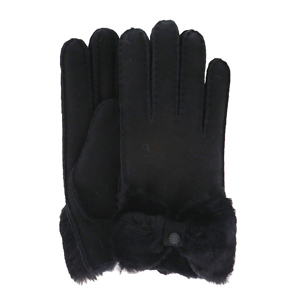 UGG Women's Bow Waterproof Sheepskin Gloves Black LG