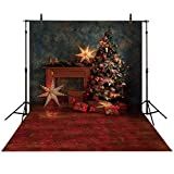 Allenjoy 5X7FT Christmas Tree Sparkle Stars Photography Backdrop Vintage Indoor Photo Background Xmas Party Decorations Studio Prop
