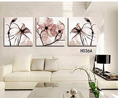 3 Panel Modern Wall canvas Painting Home Decorative Art Picture Paint on Canvas Prints Blue flower - Nba Jazz Lamp