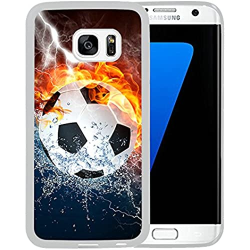 Galaxy S7 Edge Case,Football ice and fire Samsung Galaxy S7 Edge Case Cover - TPU White Sales