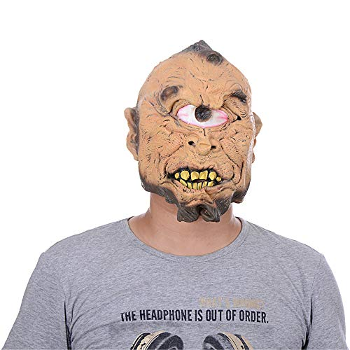 Kasien Halloween Mask, Halloween Cyclops Horror Head Simulation Mask Headgear For the Party Toy Gift (Cyclops)