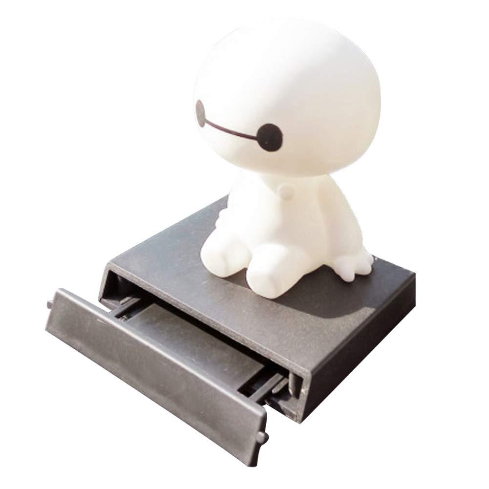 omufipw Robot Shaking Head Figura decorativa de coche Auto Decoració n Interior Muñ eca grande blanco juguetes adorno accesorios 13 * 9 * 8cm blanco