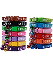OLRIKE 13 Pcs Design Adjustable Cat Collar with Bell and Colorful, Release Safety Durable for cat