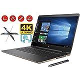 HP Spectre X360 15t 2-in-1 Convertible Laptop PC (7th Gen Intel i7 Kaby Lake Processor, 32GB RAM, 1TB SSD, 15.6 inch UHD (3840 x 2160) 4K Touch, Win10 Pro, NVIDIA 940MX, Thunderbolt) Dark Ash Silver