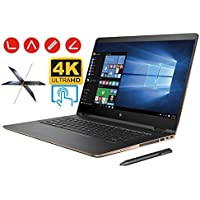 HP Spectre X360 15t 2-in-1 Convertible Laptop PC (7th Gen Intel i7 Kaby Lake Processor, 32GB RAM, 1TB SSD, 15.6 inch UHD (3840 x 2160) 4K Touch, Win10, NVIDIA 940MX, Thunderbolt) Dark Ash Silver
