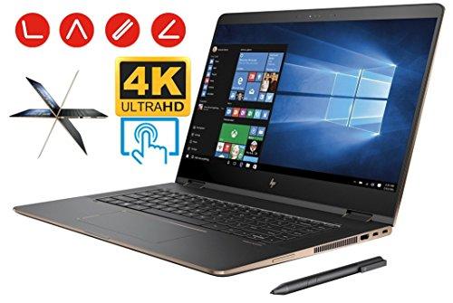 HP Spectre X360 15t 2-in-1 Convertible Laptop PC (7th Gen Intel i7 Kaby Lake Processor 16GB RAM 512GB SSD 15.6 inch UHD (3840 x 2160) 4K Touch Win10 NVIDIA 940MX Thunderbolt) Dark Ash Silver