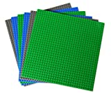 Creative Builders - Set of 6 Green-Blue-Grey Base Plates | Large 10
