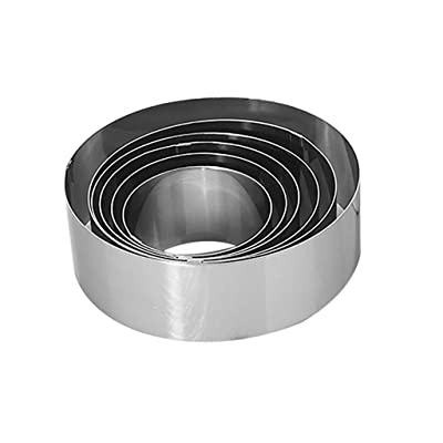 Fainosmny Round Mousse Cake Food Grade Stainless Steel Pastry Ring for Baking 6pcs Cake Mould Baking Mold: Clothing