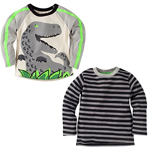 gerber-graduates-boys-2-pack-long-sleeve-tops-dino-grey-black-stripe-12-months