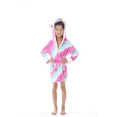 WYSMOL Unisex Niños Franela Unicornio Albornoces Batas y Kimonos Pijamas Ropa de Dormir: Amazon.es: Ropa y accesorios
