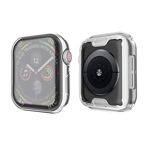 new style 2574d a5dd0 SIRUIBO Compatible with Apple Watch Series 4 Screen Protector 40mm, Soft  Slim Full-Around Protective iWatch 4 Case Cover for Apple Watch Series 4,  ...