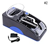 BleuMoo Electric Mini Automatic Cigarette Injector Rolling Machine Tobacco Maker Roller (Blue)