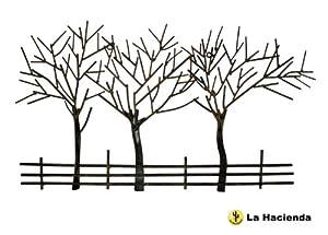 WALL ART WINTER TREES. DECORATIVE HANGING ART. NEW. METAL