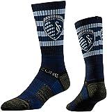 Strideline MLS Sporting Kansas City Premium Athletic Crew Socks, Navy, One Size