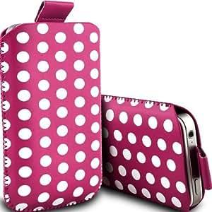 Blackberry Bold Touch 9900 linfogammagrafía lunares piel sintética cubierta en color rosa (L)