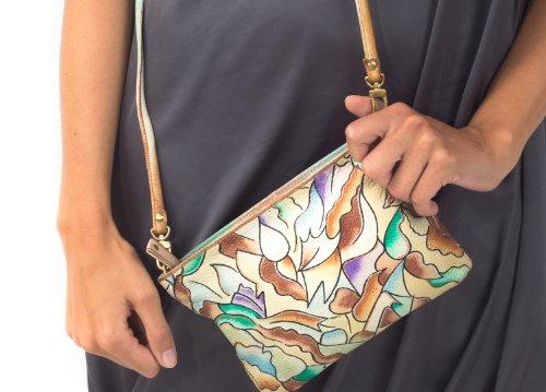 Zimbelmann Alina Sac à main pour femme en cuir nappa peint à la main
