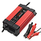 Potek 0.75/2 Amp Smart Battery Charger Automotive / Maintainer for 12V Lead Acid Batteries