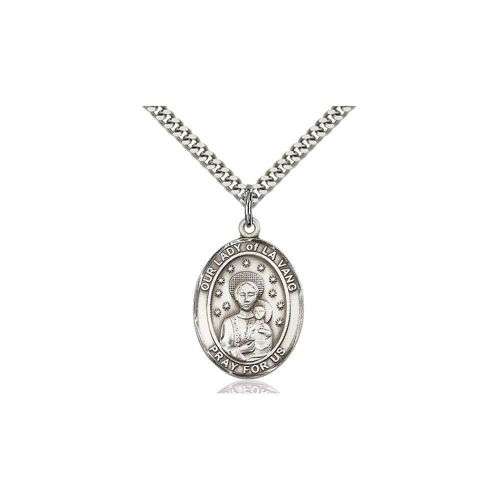 DiamondJewelryNY Sterling Silver O//L of La Vang Pendant