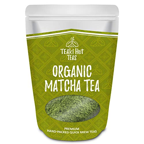 TEAki Hut Organic Matcha Green Tea Powder 2 oz (50 Servings), Culinary Grade, Excellent Weight Loss Benefits, More Antioxidants Than Green Tea Bags, Great For Making Matcha Smoothies or Lattes