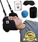 HKKM Neck Hammock for Neck Pain Relief - Head Hammock. Set up Easily at Your Door or Railing Pack of Free Eye Mask and Free Massage Ball Plus Instruction
