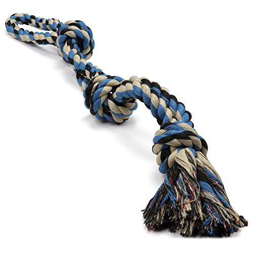 XL DOG ROPE TOY FOR AGGRESSIVE CHEWERS -...