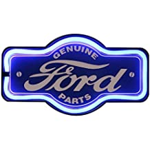 """Genuine Ford Parts Oil LED Sign, 16"""" Tie Shaped Sign, LED Light Rope That Looks Like Neon, Wall Decor for Man Cave, Garage, Bar"""