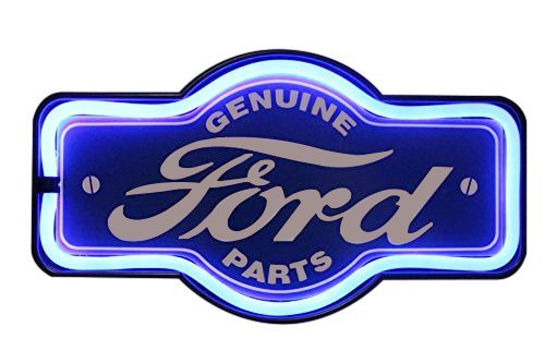 "Genuine Ford Parts Oil LED Sign, 16"" Tie Shaped Sign, LED Light Rope That Looks Like Neon, Wall Decor for Man Cave, Garage, Bar"