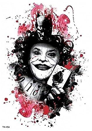 Joker Batman Tattoo Multicolor Festival Tattoo Cuerpo Tattoo ...