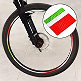 hsn_zen 6Pcs Bike Wheel Rim Reflective Stickers Bicycle MTB Fluorescent Warning Tapes US