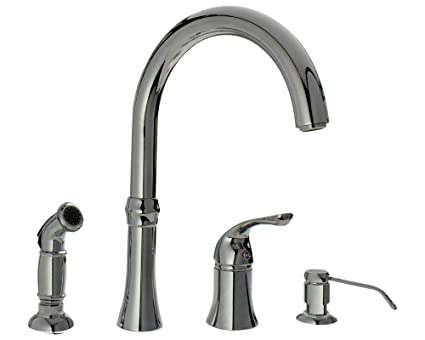 710 Bn Brushed Nickel 4 Hole Kitchen Faucet Touch Sink