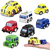 H2solution Vehicles Toys with Play Mat, 6 Mini Cars, 28 Road Signs and Playmat, Mini Diecast Cars Play Sets, Toy Trucks, Perfect Toy Cars Party Supplies(Type 1