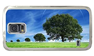 Hipster Samsung Galaxy S5 Case most protective fantasy summer scenery PC Transparent for Samsung S5