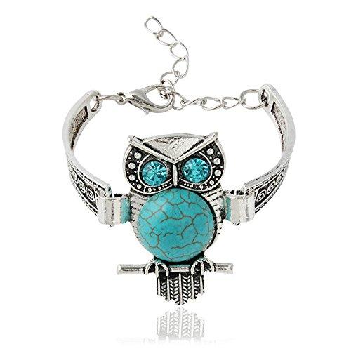 Ransopakul Bracelet Bohemian Owl Imitation Retro Jewelry 2016 Thai Silver Alloy by Paweenaso