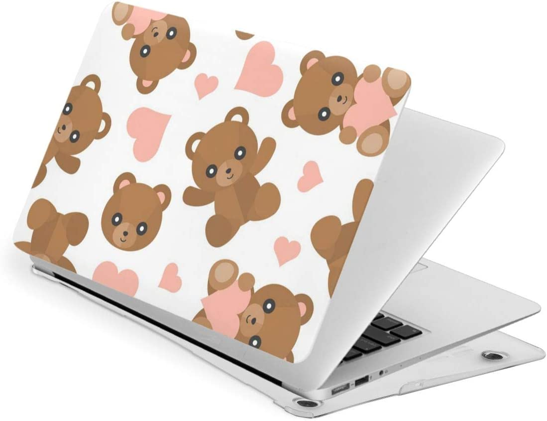 Cute Bear Laptop Case Dust-Proof Laptop Case Cover Fashion Fully Protect Computer Plastic Case Hard Shell Cover Laptop Sleeve Case for New air13