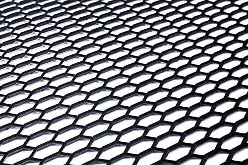 Alerón de rejilla universal de plástico ABS negro para carreras tipo panal de abeja