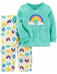 Girls 2-Piece Fleece Pajamas Top and Pants Set