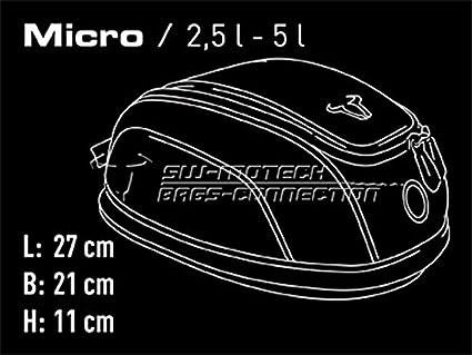 Borsa da serbatoio Quick-Lock Evo Micro 2,5 l/ /5 l nera in nylon balistico 1680