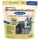 Ark Naturals Breath-less Brushless Toothpaste, Dental Chews for Small and Medium Dogs, Plaque, Tartar, and Bacteria Control, Chewable, Easy Digestion, Natural Ingredients, 12 oz. Bag