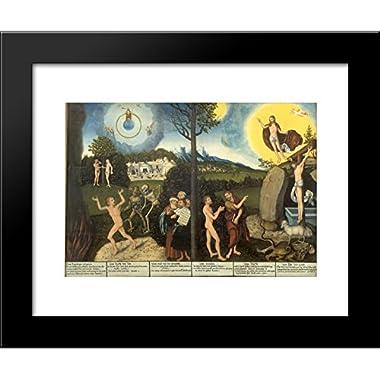 Law and Grace 20x24 Framed Art Print by Lucas Cranach the Elder