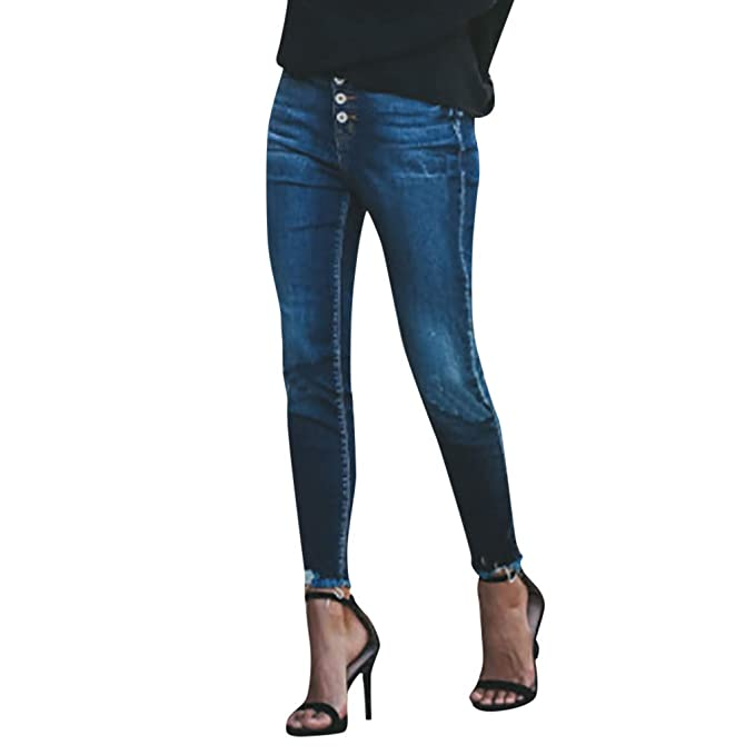 Pantalones Cortos Mujer Vaqueros, ❤ Zolimx Mujer Elástico ...